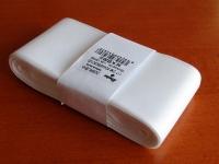 Stuha taftová biela 52 mm