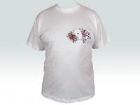Bavlnené tričko vyšívané Karty