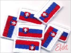 Slovenská vlajka 30x18mm na rúška