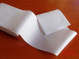Stuha taftová biela 72mm